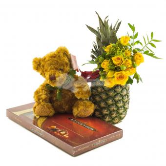 Набор фрукт с цветами и игрушкой